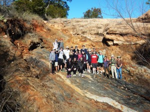 Geology pit with master naturalists