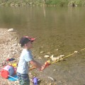 Kids fishing at Reimers Ranch for bass