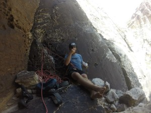 Snackin' at the crag